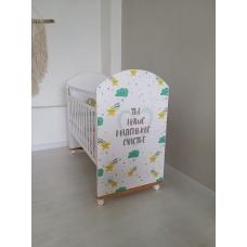 Кровать Маленькое счастье, цвет белый, колесо-качалка