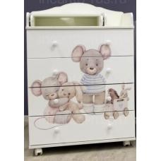 Комод пеленальный Incanto Little Mouse