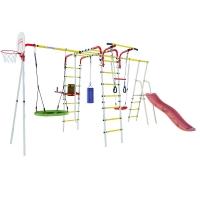 КОМПЛЕКТ ROMANA Fitness NEW + Качели гнездо + Дополнительный комплект с горкой к дачному комплексу + качели пластиковые