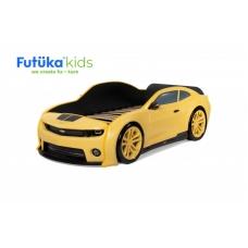 Кровать-машинка объемная (3d) EVO Camaro Желтый матовый
