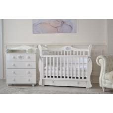 Кроватка детская Incanto Richmond цвет белый с ящиком, маятник универсальный