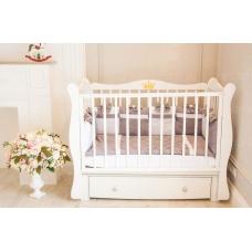 Кроватка детская Incanto Lorena цвет белый с ящиком, маятник универсальный