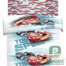Комплект постельного белья 1,5сп бязь Высокая скорость Тачки