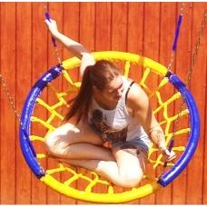 Качели-Гнездо диаметр 1,0 метра на четырех лучах цепи