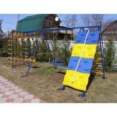 Спортивно-игровой комплекс Вереск Веселый непоседа 7 со  скалодромом  и двумя качели цепь/подшипник